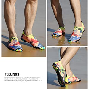 Multi-color water shoes