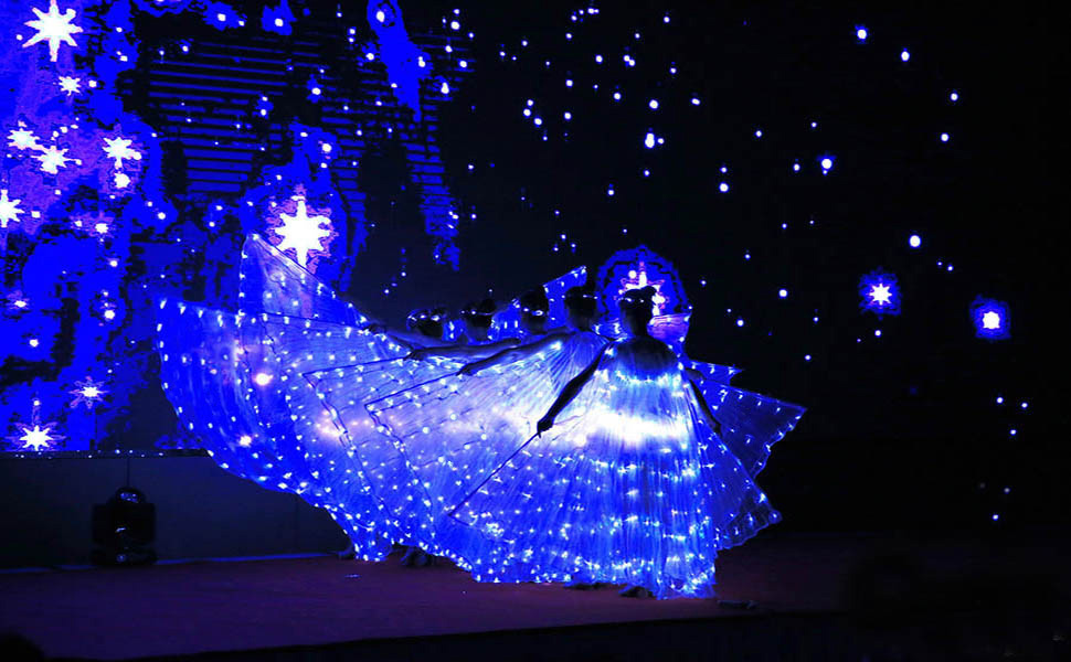 Amazon Com Dance Fairy Belly Dance Led Angel Isis Wings