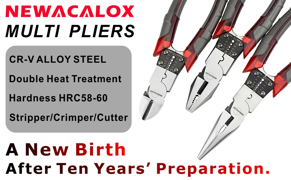 """New 8/"""" Long Nose Pliers Hardened Steel Alloy Grippers /& Cutters"""