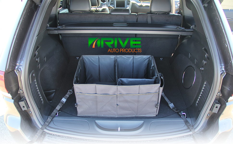 NEW Car Trunk Organizer Storage with Straps by Drive Auto Products™