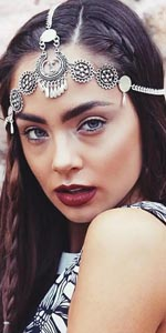 Women Forehead Jewelry Indian national style Beads Tassel Hair Head Jewelry