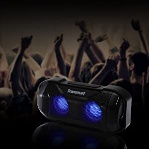 bluetooth speaker with lights waterproof