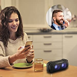 bluetooth speakers with mic hands free clear phone call