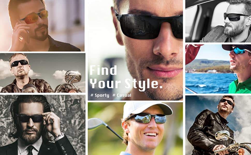 Sporty、casual polarized sunglasses