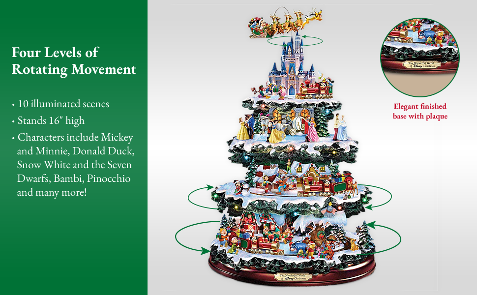 Bradford Exchange The Disney Tabletop Christmas Tree The Wonderful World Of Disney
