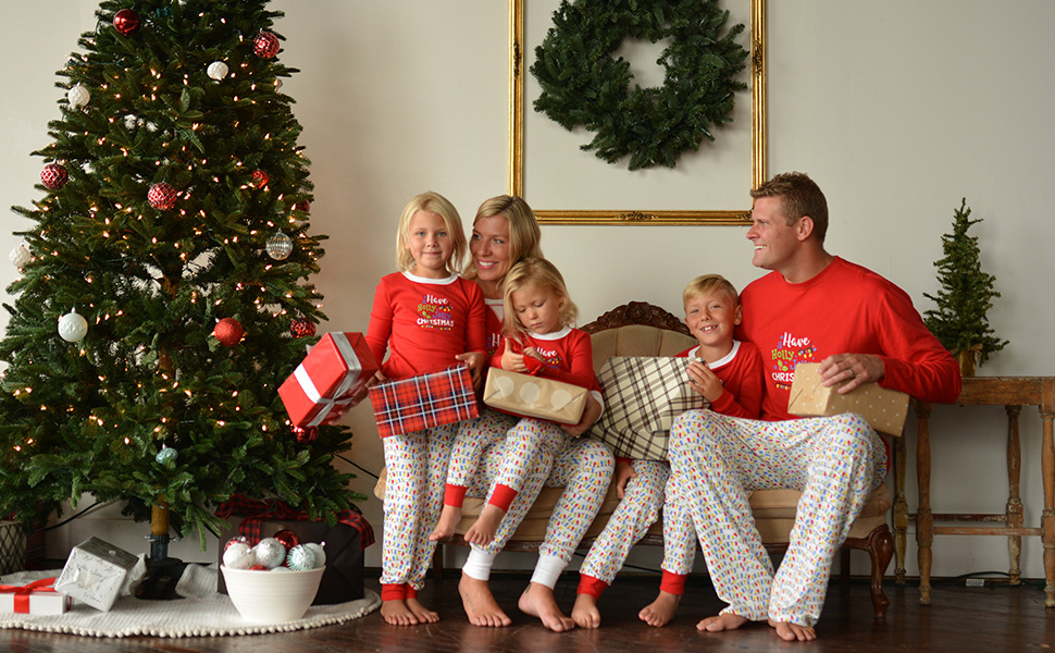 16e08d537f Sleepyheads Christmas Lights knit family matching holiday pajamas have a holly  jolly christmas pjs
