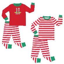 a200ea9a71 Sleepyheads Kid's Elfie Stripe Knit Family Matching Pajamas Christmas pjs  striped elf hashtag red