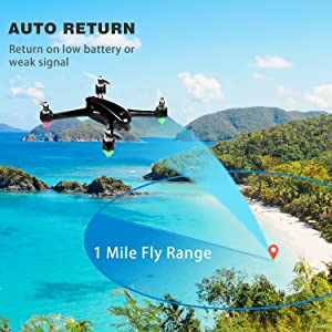 Contixo F18 Quadcopter Drone Altitude Hold GPS Auto Return To Home Flying Hobbies Grownup Toys