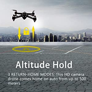 Contixo F18 Quadcopter Drone Altitude Hold Advanced GPS Auto Hovering Auto Hover RTH Auto Return