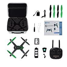 Contixo F20 Quadcopter Drone WiFi HD Camera Follow Me GPS Altitude Hold Auto Hover Return App Smart