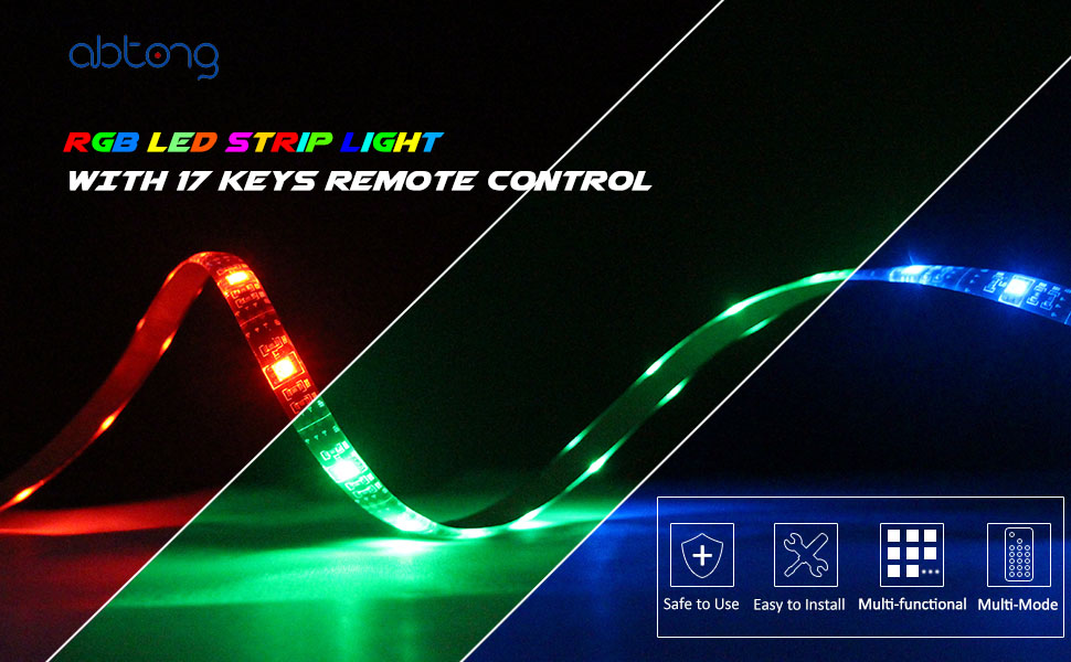 Amazon led strip lights battery powered abtong rgb led product description feature good partner the led strip lights aloadofball Gallery