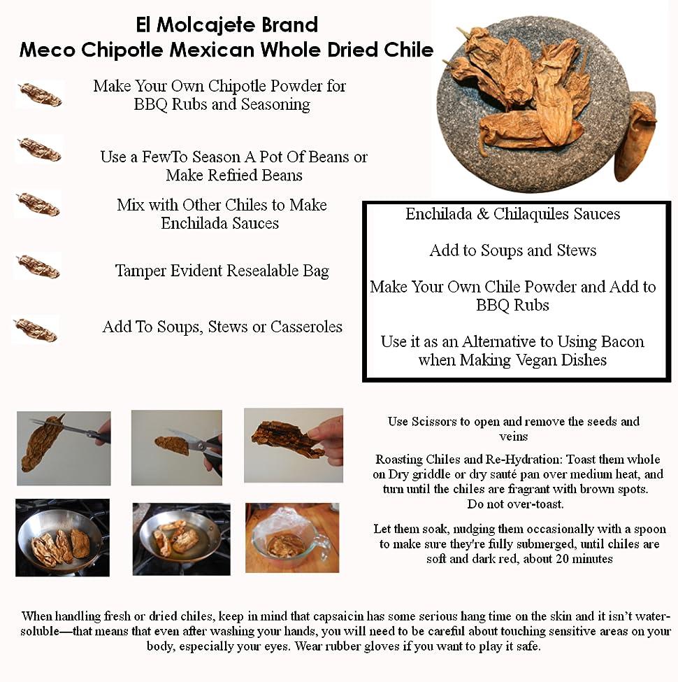 amazon com meco chipotle mexican whole dried chile 8 oz