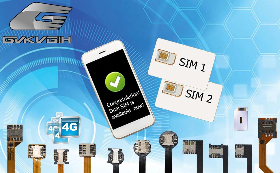 Amazon.com: Nueva doble juego de adaptador de tarjeta SIM ...