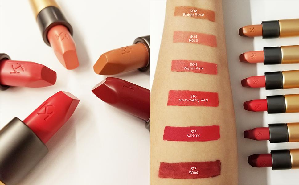Kiko Milano Velvet Passion Matte Lipstick Creamy Matte Lip Stick Long Lasting Lipstick Color Cherry 312 New Av In 5 Colors Professional