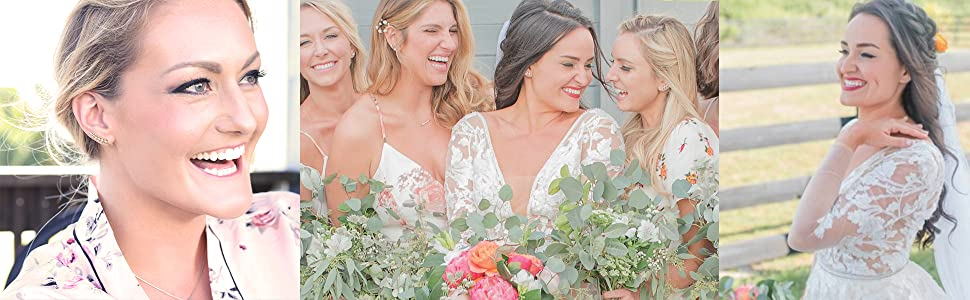 A beautiful bridal accessory, or give them as adorable bridesmaid gifts for your best friends