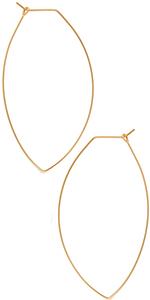 Octagon Hoop Earrings - Hypoallergenic Lightweight Open Wire Threader Drop Dangles for Women