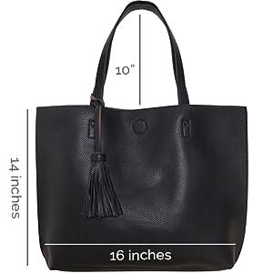 Amazon.com: Humble Chic Large Vegan Leather Tote Bag
