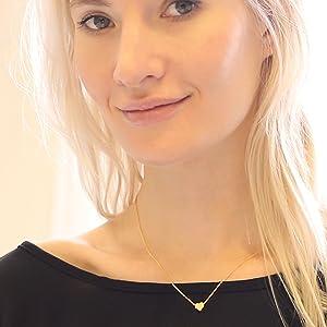 dfa1e34204 Humble Chic Tiny Heart Necklace - Delicate Dainty Pendant Chain Link Mini  Charm