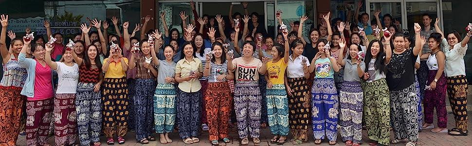 Lofbaz Boho Harem Pants Thai Manufacturer Elephant Peacock Solid