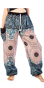 LOFBAZ Harem Pants for Women S-4XL Plus Yoga Boho Hippie ...