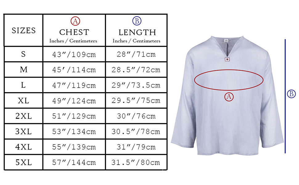 LOFBAZ Mens T-Shirt 100% Cotton Beach Hippie Shirt V-Neck Yoga Tunic Top