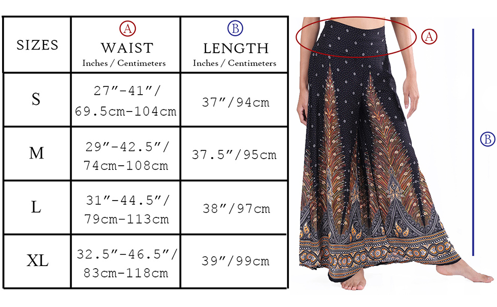 Lofbaz Women's Wide Leg Palazzo Pants Yoga Lounge Hippie Harem Flowy Trousers