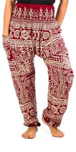 Lofbaz Femmes Harem Pantalons Paon Taille smock/ée