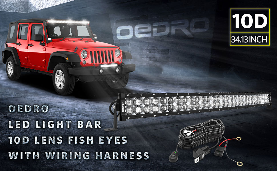 LED Light Bar 32 400W 28500LM OEDRO Upgraded Spot /& Flood Combo Beam with 8ft Wiring Harness IP68 WATERPROOF Fog Driving Offroad Fit for Pickup Boat Jeep SUV ATV Truck Light Bar