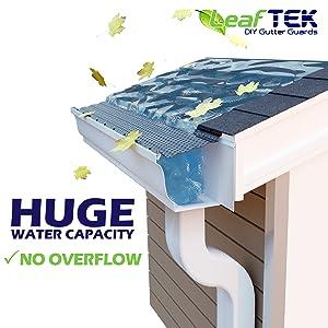 Leaftek 6 Quot X 100 Gutter Guard Leaf Protection Diy