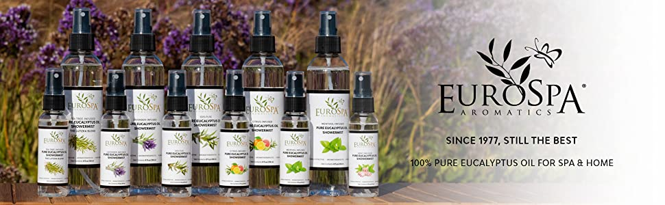 EuroSpa Aromatics, Eucalyptus Oil, ShowerMist, Eucalyptus, Citrus, Lavender, Tea Tree, Mint, Menthol