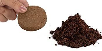 Expanded organic soil disk
