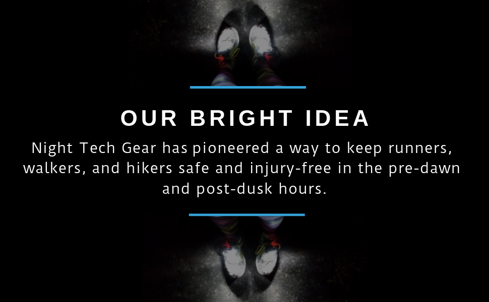 night tech gear night runner trek x shift shoe lights led bright walkers hikers outdoor athletic