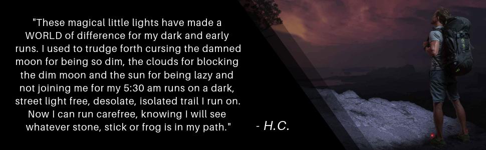 night runner run lights running exercise athletic outdoor extreme night trek x activity dark light