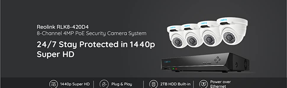 4MP POE security system