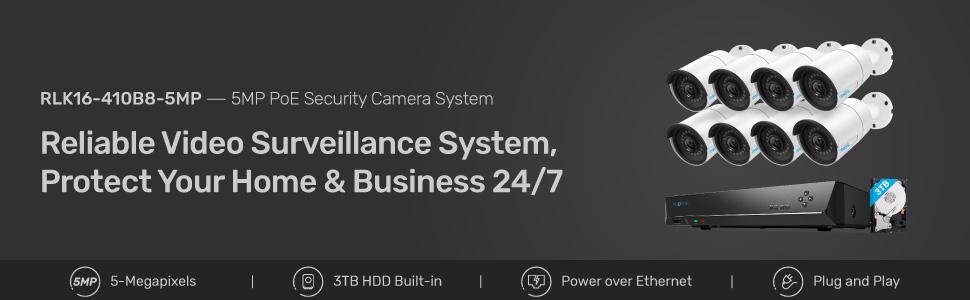 16 kanal 5MP kamera sistemi