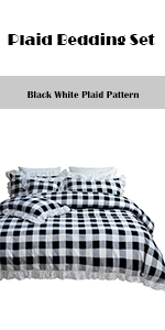 Plaid Bedding Set