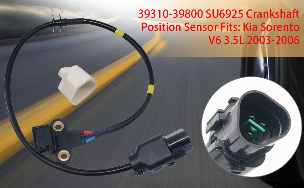 39310-39800 SU6925 Crankshaft Position Sensor Fits Kia Sorento V6 3.5L 2003-2006