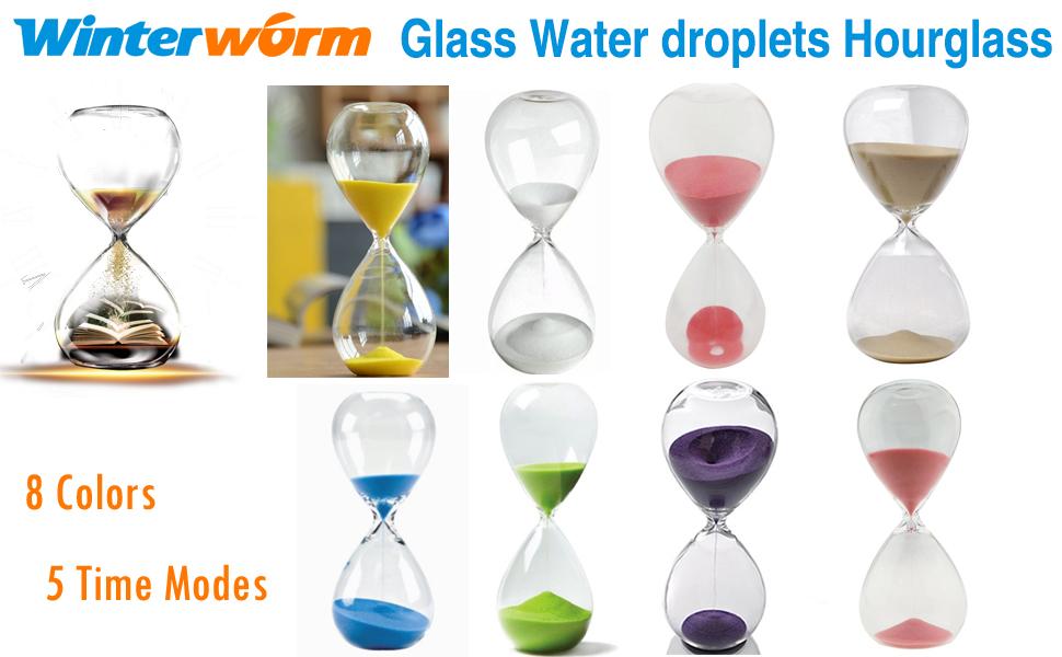 6d4663591d6 Amazon.com  Large Fashion Colorful Sand Glass Sandglass Hourglass ...