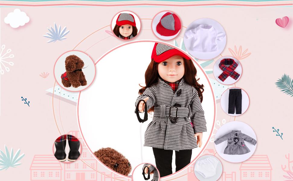 Amazon.com: MeiMei - Muñeca de 18 pulgadas para niños de más ...