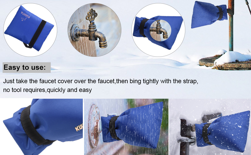 Amazon.com : Kuuqa Outdoor Faucet Cover, Faucet Socks for Freeze ...