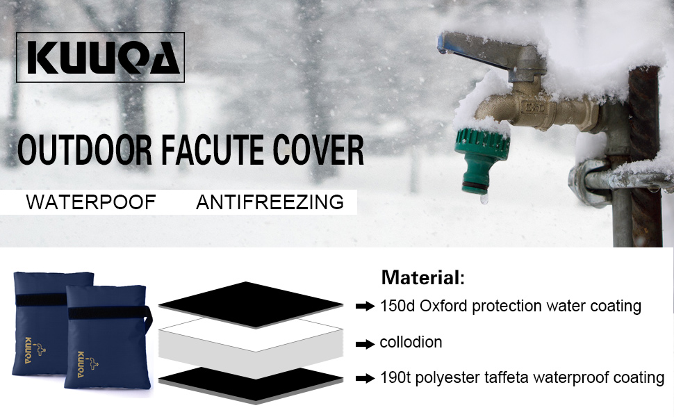 Amazon.com : Kuuqa Outdoor Faucet Cover Winter Faucet Socks for ...