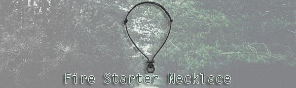 fire starter necklace with flint scraper