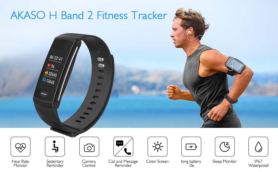 akaso fitness tracker  AKASO H Band 2 Smart Fitness Sports Band