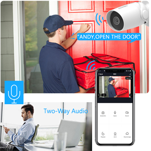 Two way audio camera