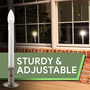 612 Vermont Adjustable Height LED Window Candles