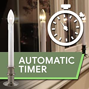 612 Vermont Automatic Timer Window Candles