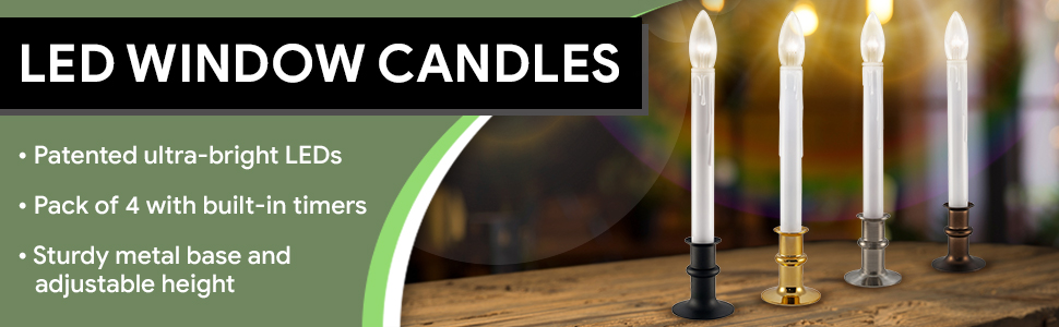 612 Vermont Ultra Bright LED Window Candles