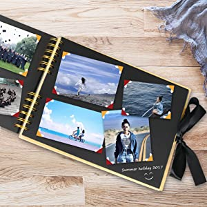 Amazon diy scrapbook photo album 80 pages memory book craft a memory book of our own adventures it also can be used as travel record wedding album baby solutioingenieria Images