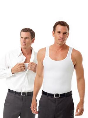 Underworks Microfiber Compression Tank for Men, compression shirts, gynecomastia tank top