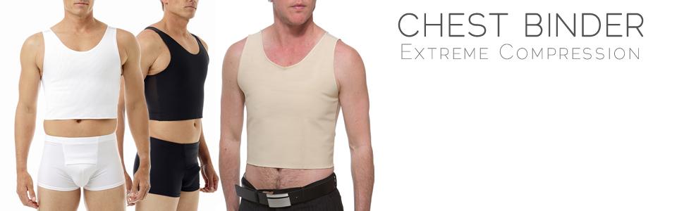 Underworks FTM Extreme Tri-Top Chest Binder Top 983, chest binders, ftm chest binder, gynecomastia